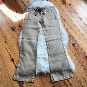 Sanctuary Wide Leg Linen Drawstring pants 27